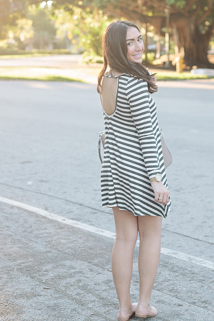 open-back-striped-dress-gray-the-fashionistas-diary