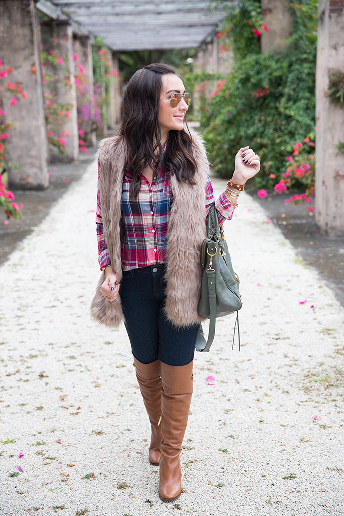 Faux Fur Vest The Fashionista S Diary