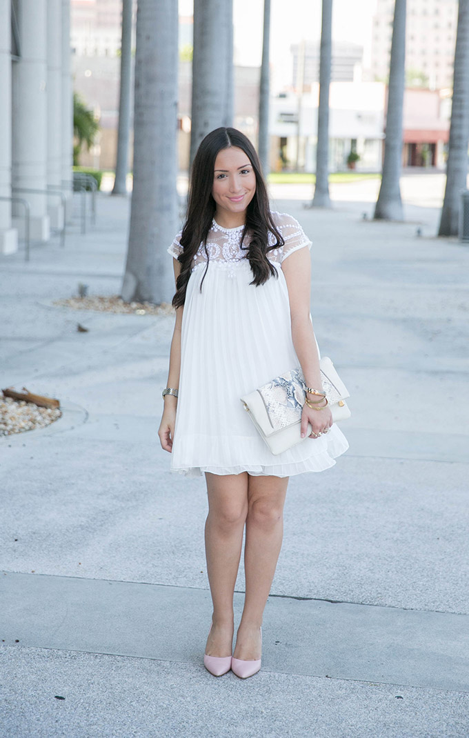 chicwish-white-pleated-dress