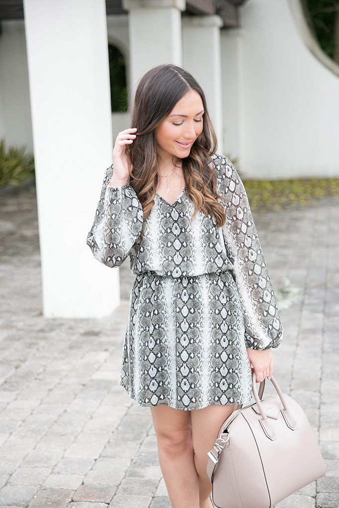 snakeskin-printed-dress