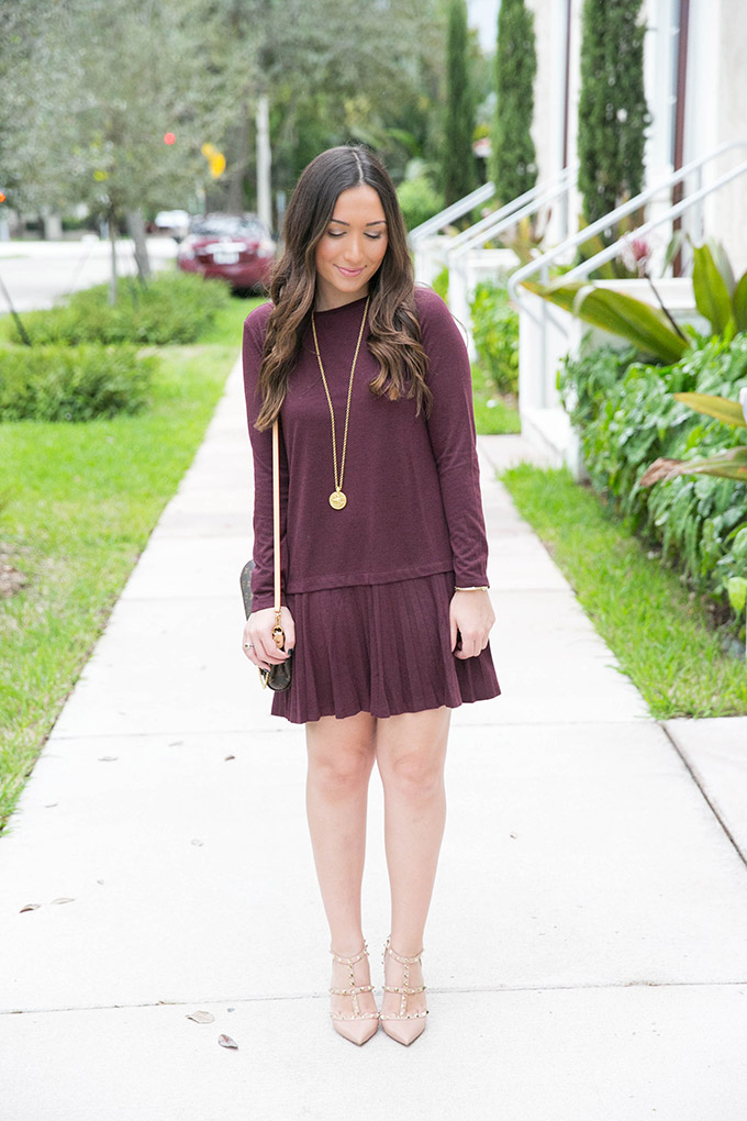 burgundy-casual-dress