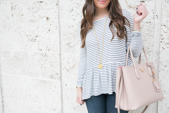 stripe-peplum-top