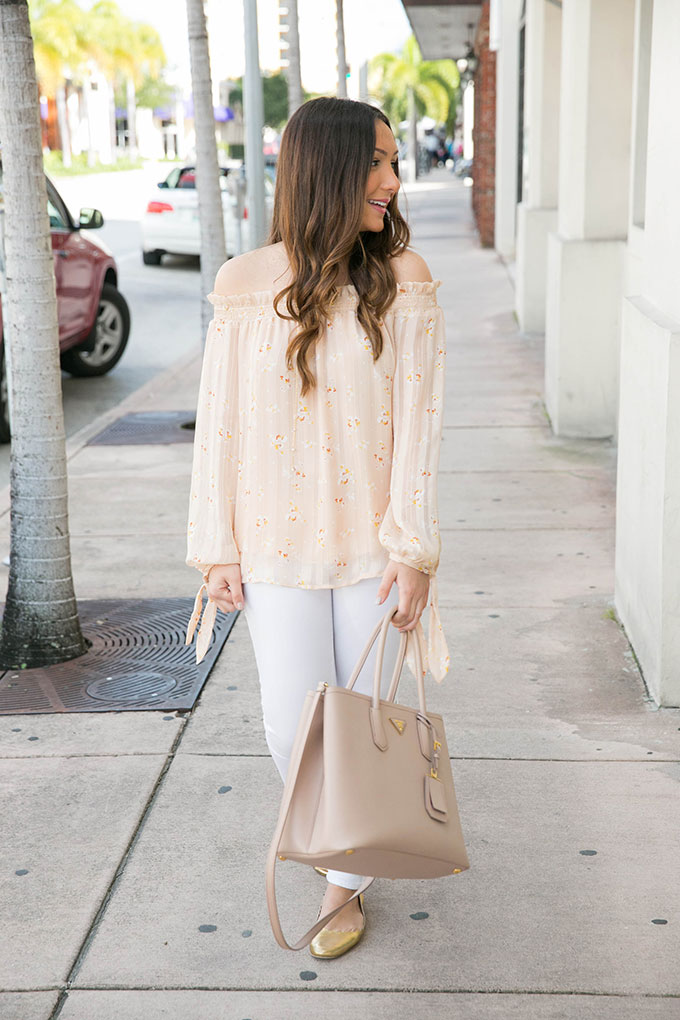 floral-off-the-shoulder-blouse