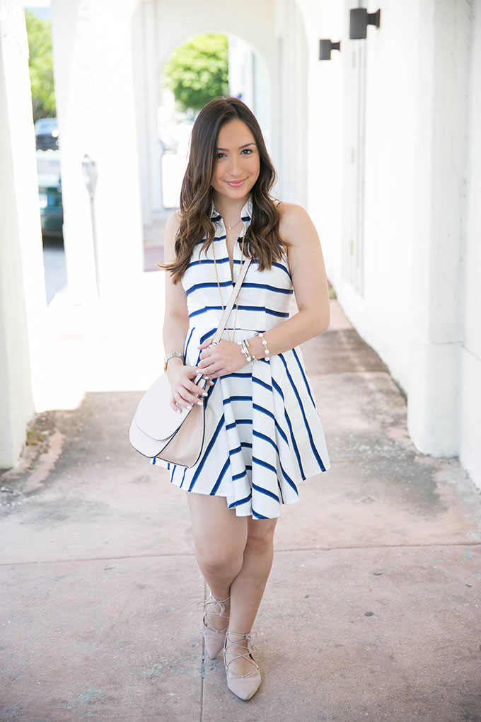 blue-and-white-striped-dress