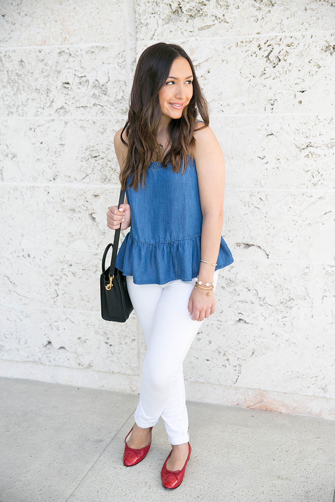 chambray-peplum