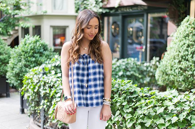 blue-plaid-top