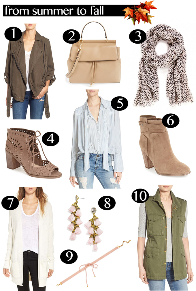 Summer to Fall Transitional Wear