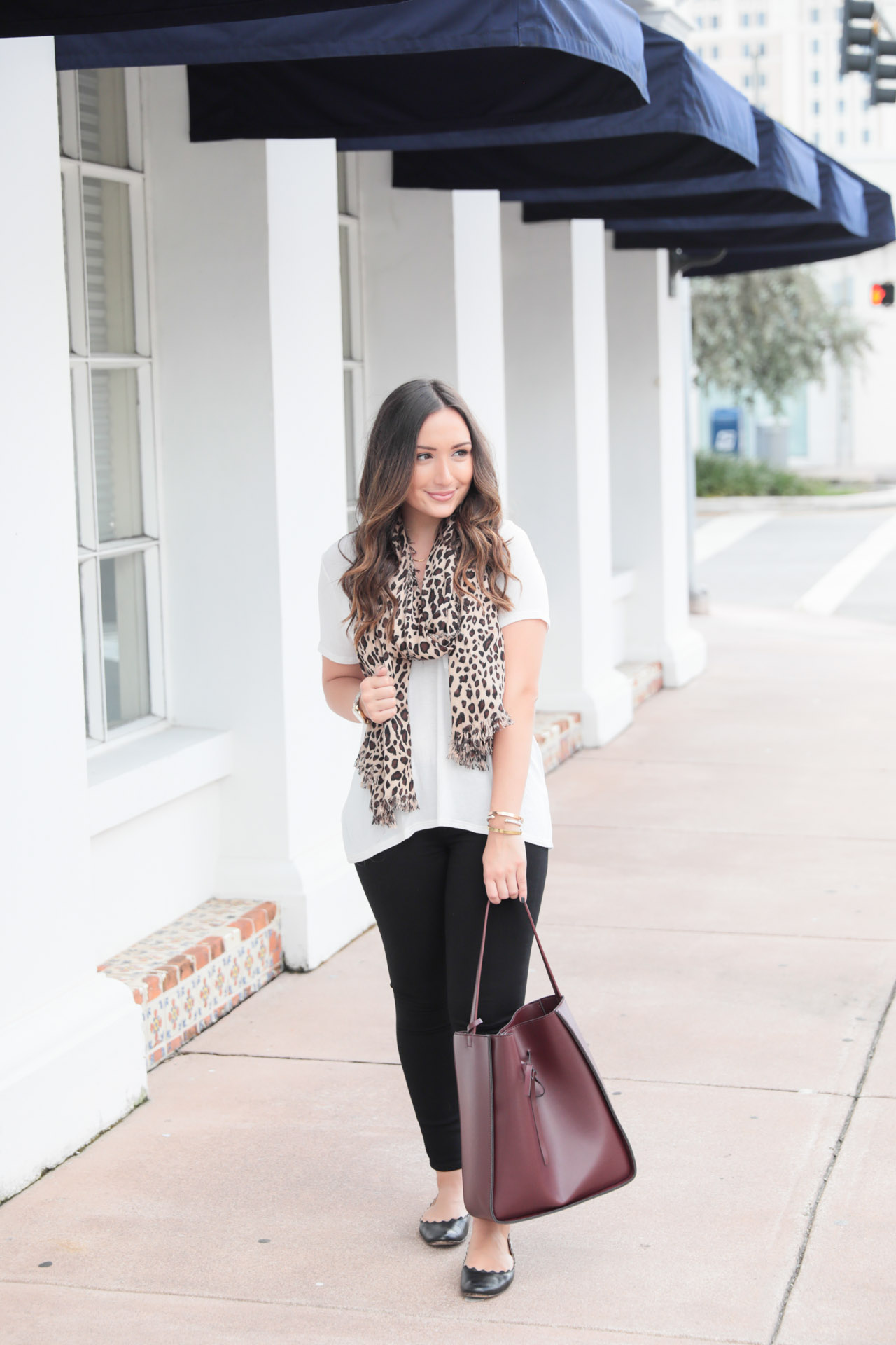 Leopard scarf under $30 for fall