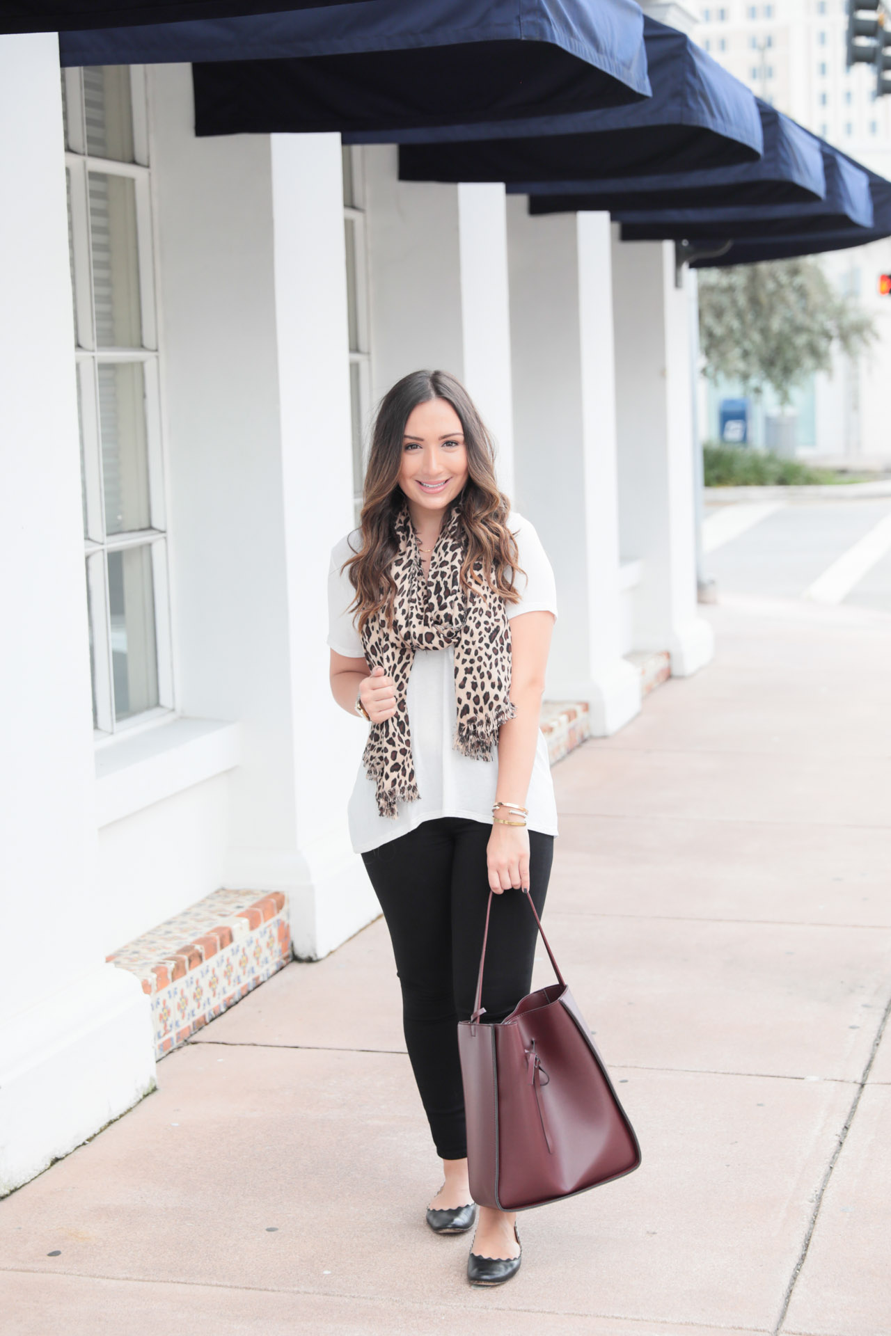 Leopard and oxblood accessories for fall