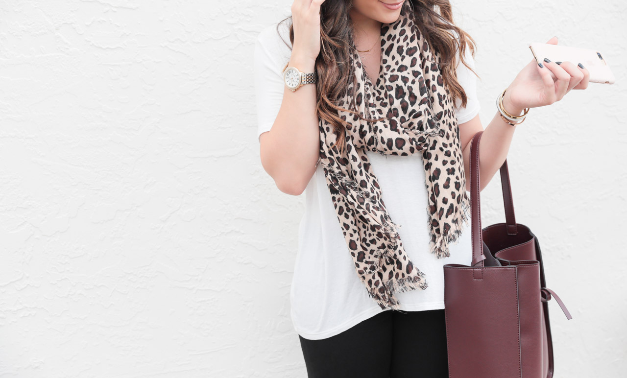 Leopard scarf from Sole Society