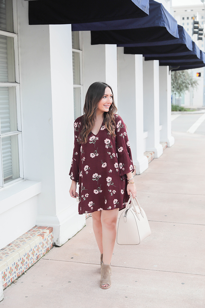 Burgundy Dress for Fall from Nordstrom