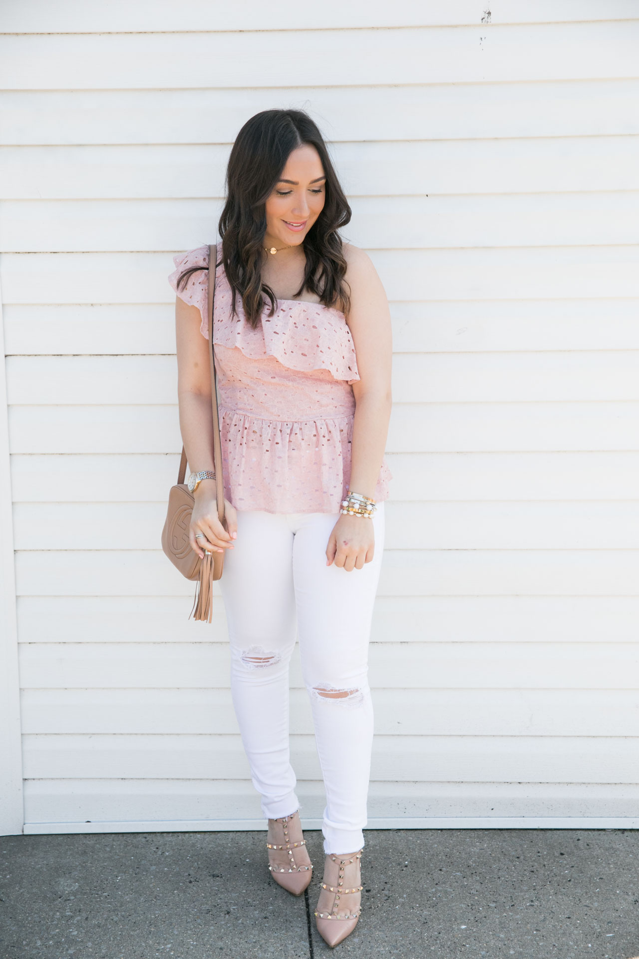 a8c0a3d9559 Lace Peplum Top + Nordstrom Half Yearly Sale!