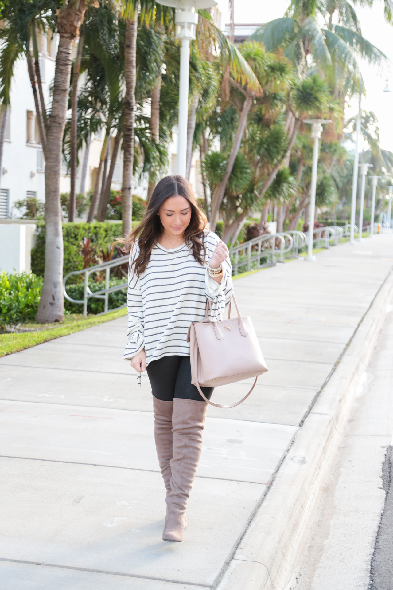 Striped Cold Shoulder Top + Sephora Picks | The Fashionista's Diary